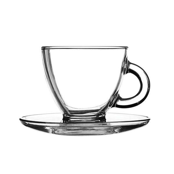 Ravenhead Entertain 200ml Set Of 2 Cappuccino Cup & Saucer