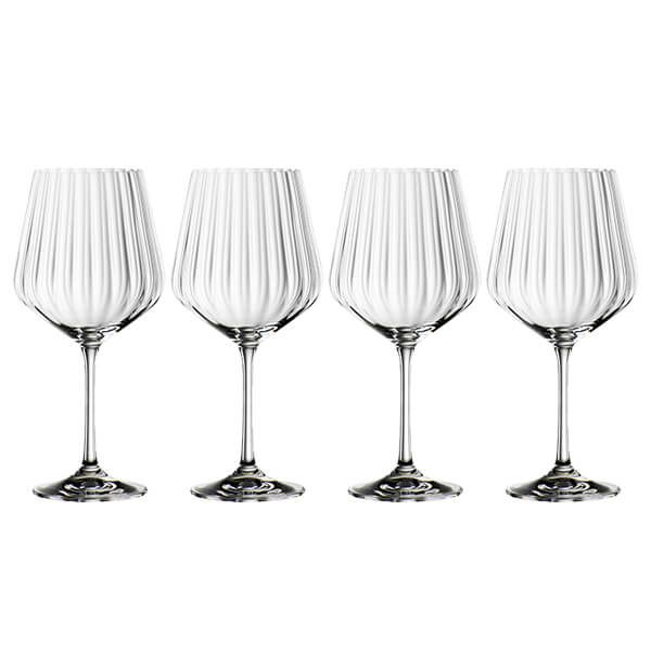 Nachtmann Set of 4 Gin & Tonic Fluted Crystal Glasses