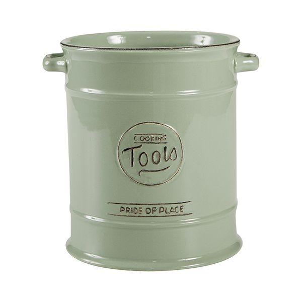 T&G Pride Of Place Large Cooking Tools Jar Old Green