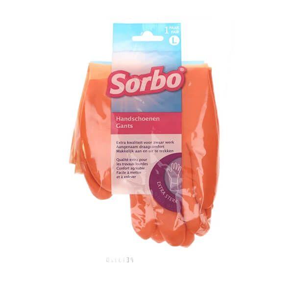 Sorbo Household Comfort Gloves Large Orange