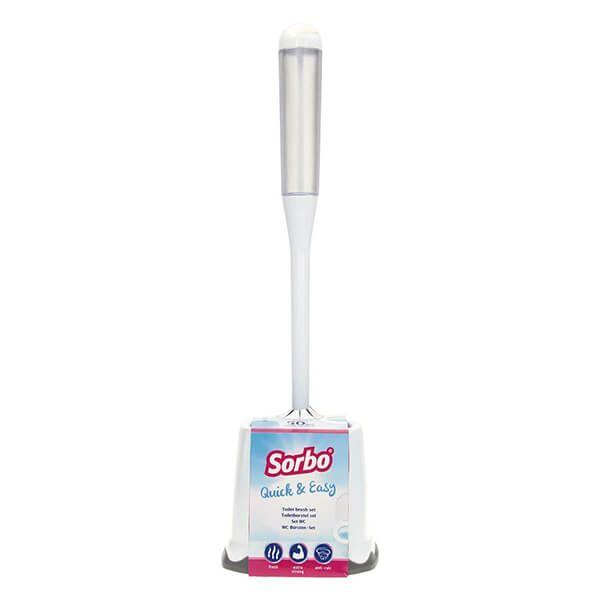 Sorbo Quick & Easy Toilet Brush Set - White