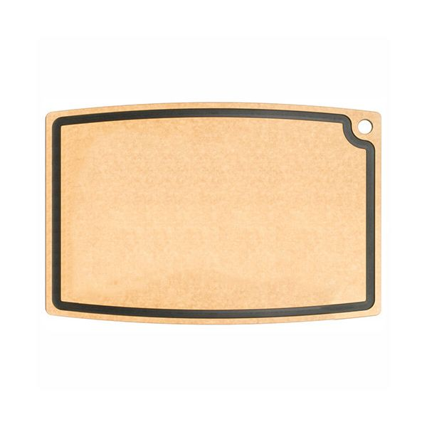 "Epicurean Signature Wood Composite Chef Series 27"" x 18"" Natural / Slate Cutting Board"