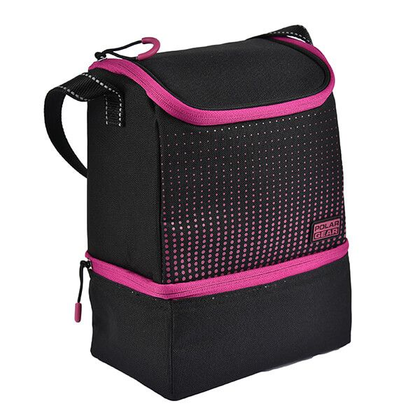 Polar Gear Active Two Compartment Cool Bag Optic Dot Berry