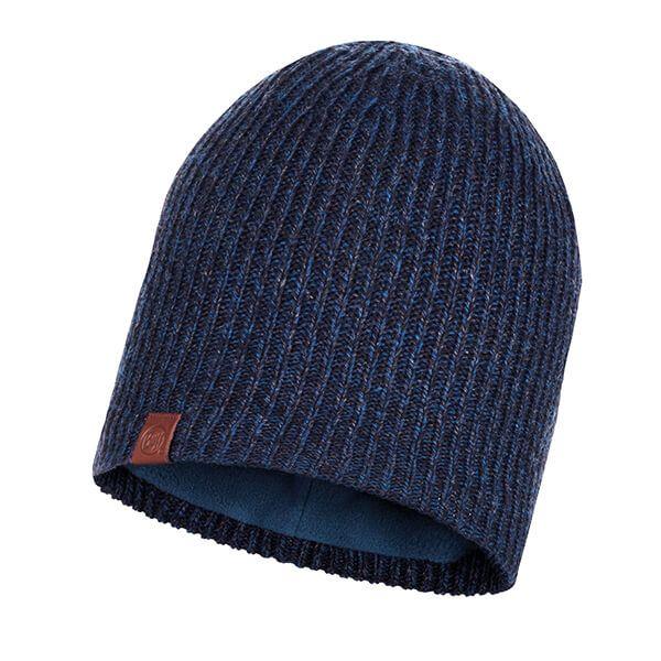 Buff Lyne Night Blue Knitted & Full Fleece Hat