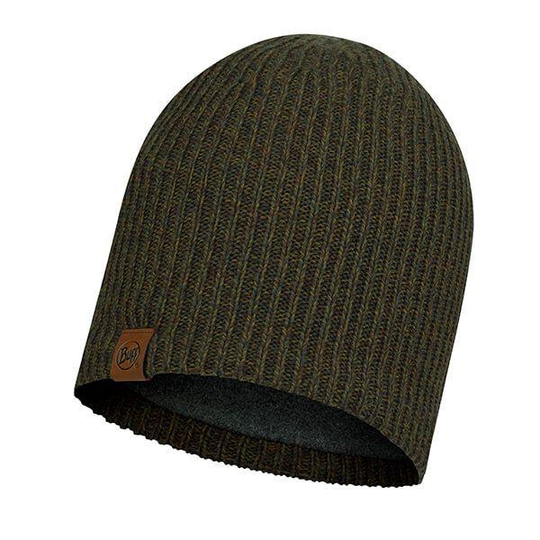 Buff Lyne Bark Knitted & Full Fleece Hat