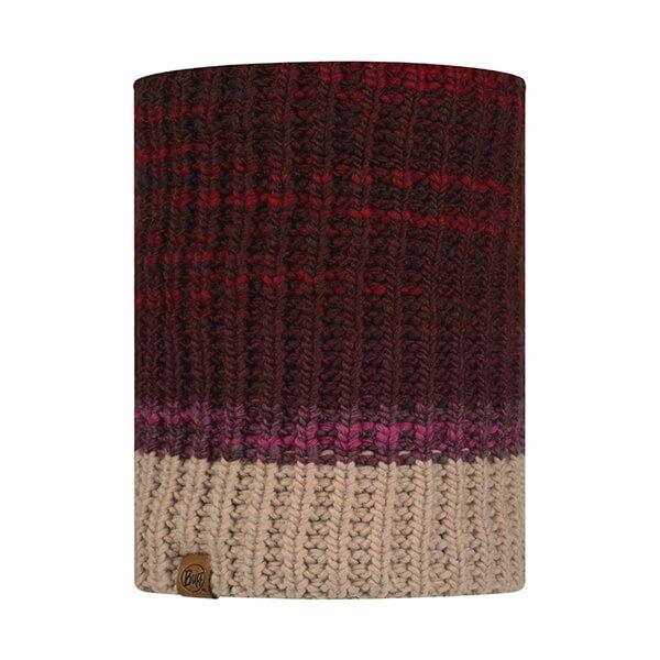 Buff Alina Rusty Maroon Knitted & Fleece Neckwarmer