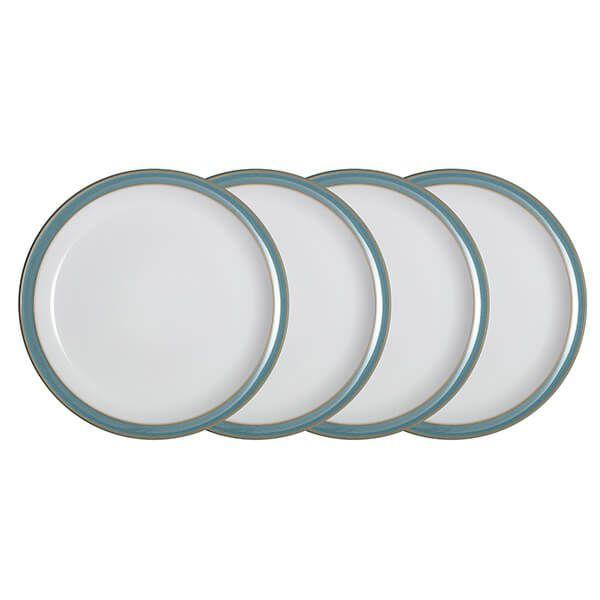 Denby Azure 4 Piece Dinner Plate Set