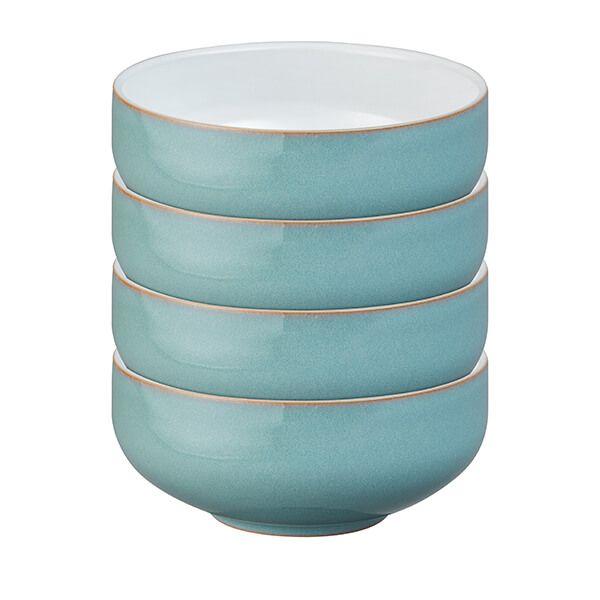 Denby Azure 4 Piece Cereal Bowl Set