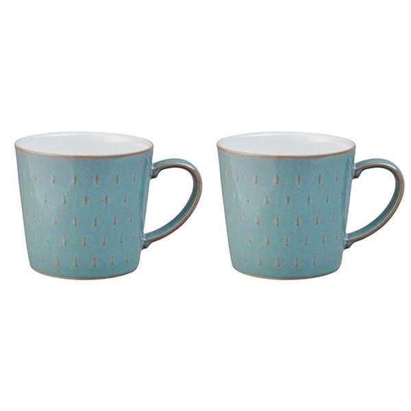 Denby Azure 2 Piece Cascade Mug Set