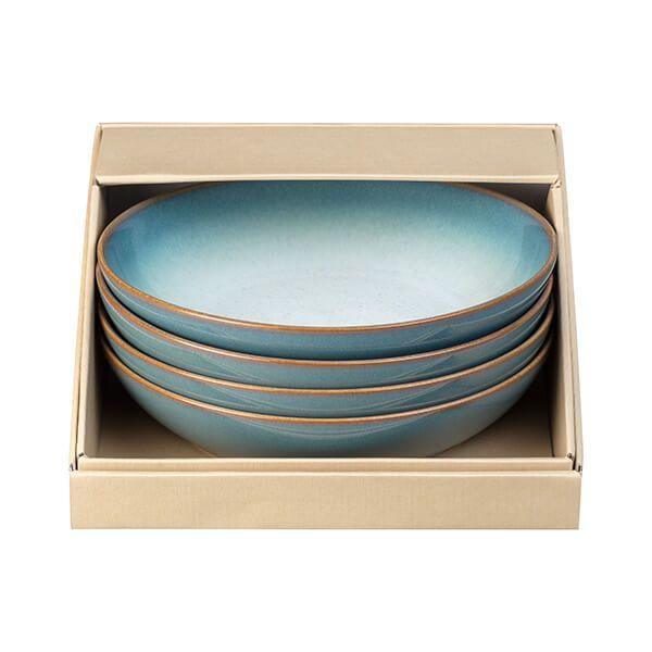 Denby Azure Haze 4 Piece Pasta Bowl Set