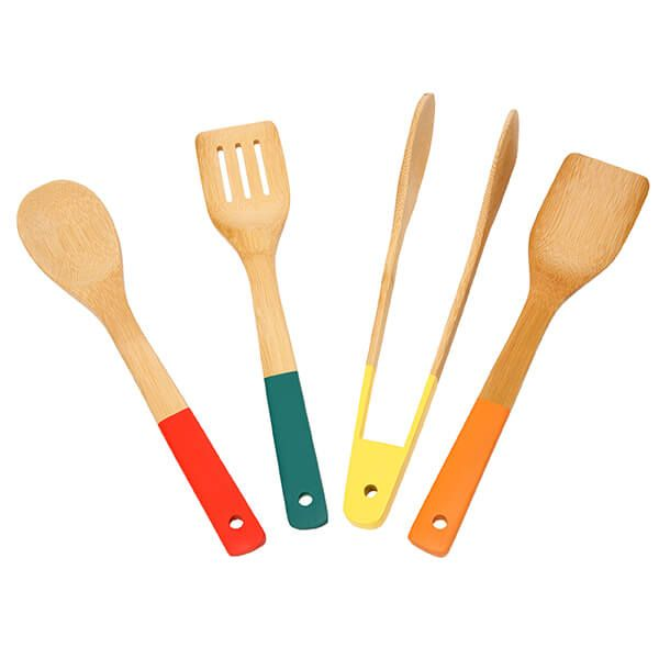 School Of Wok Set Of 4 Bamboo Tools