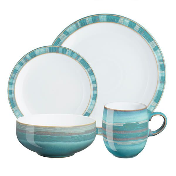 Denby Azure Coast 16 Piece Tableware Set