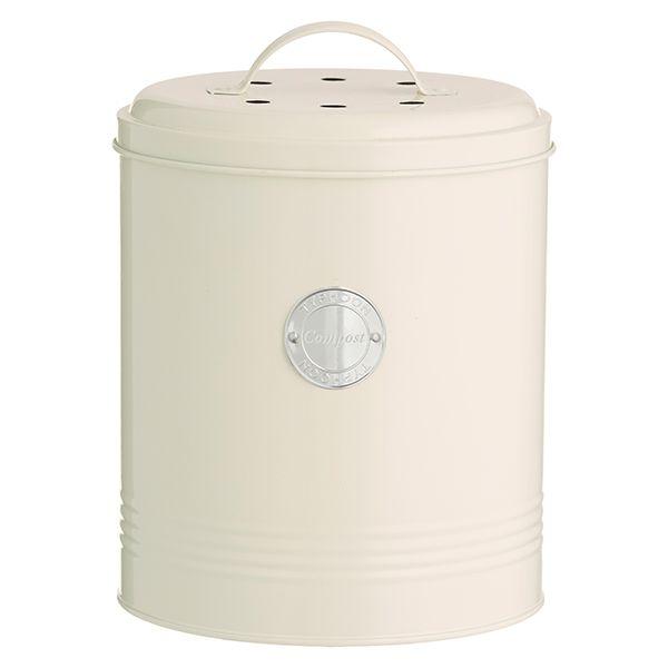 Typhoon Living Cream Compost Caddy