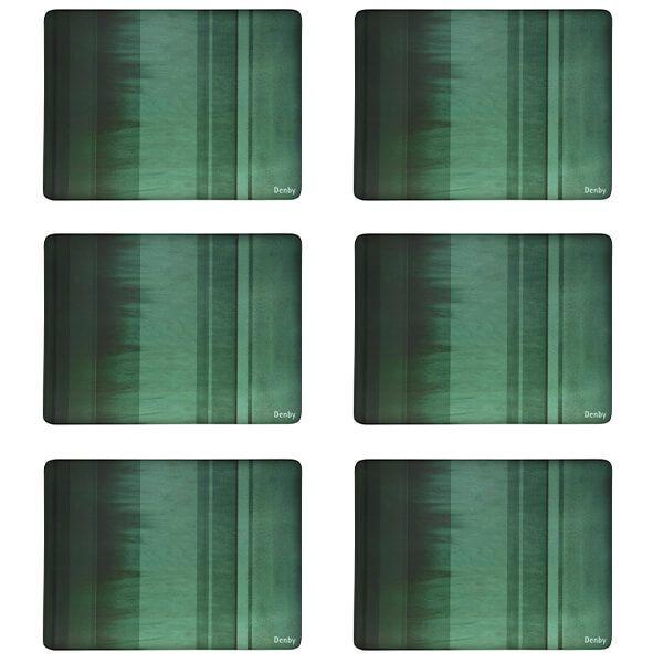 Denby Colours Green 6 Piece Placemats