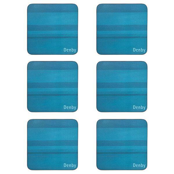 Denby Colours Turquoise 6 Piece Coasters