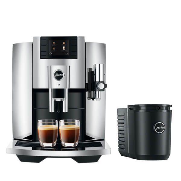 Jura E8 Chrome Coffee Machine with FREE Gift