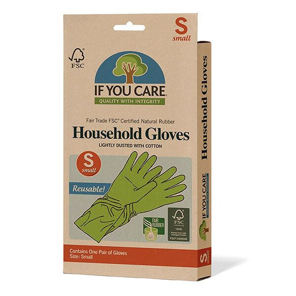 If You Care FSC Small Certified Fair Rubber Latex Household Gloves
