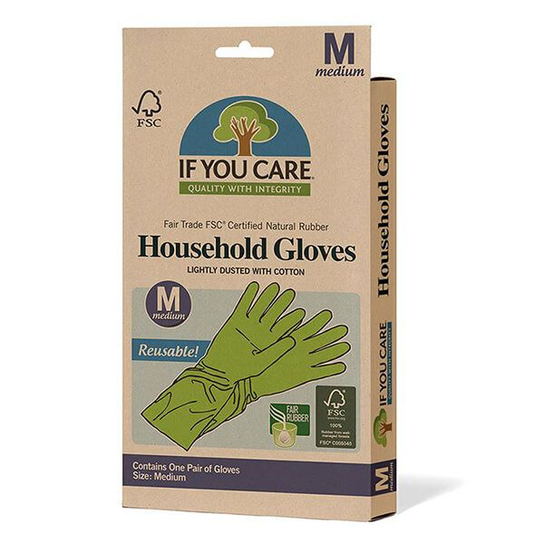 If You Care FSC Medium Certified Fair Rubber Latex Household Gloves