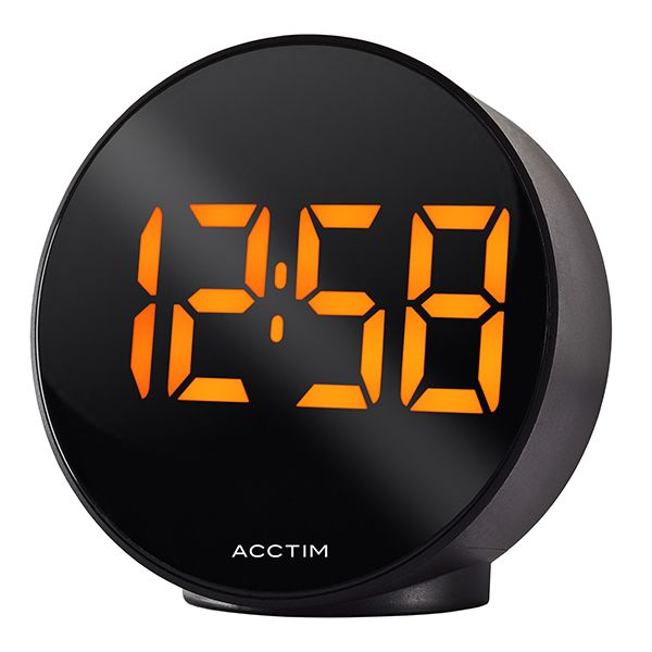 Acctim Circulo Alarm Clock Black