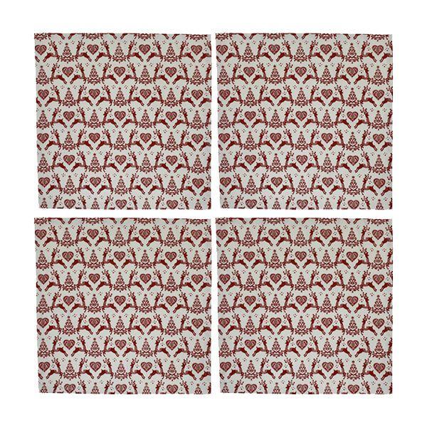 Dexam Yuletide Set of 4 Cream Napkins