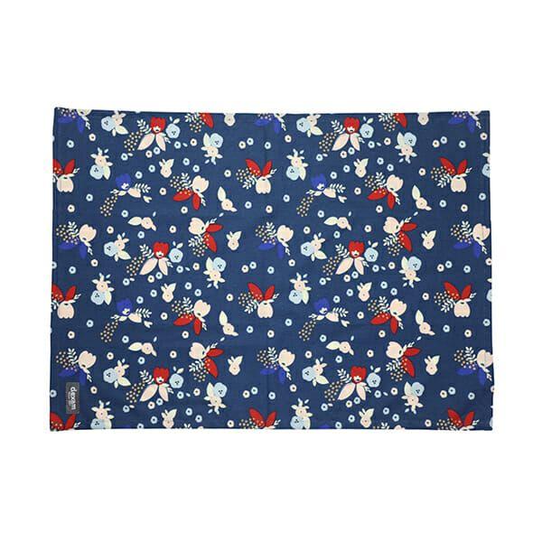 Dexam Bloom Set of 2 Tea Towels Indigo & Blush
