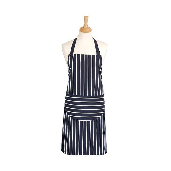 Dexam Rushbrookes Classic Butchers Stripe Adult Apron Navy