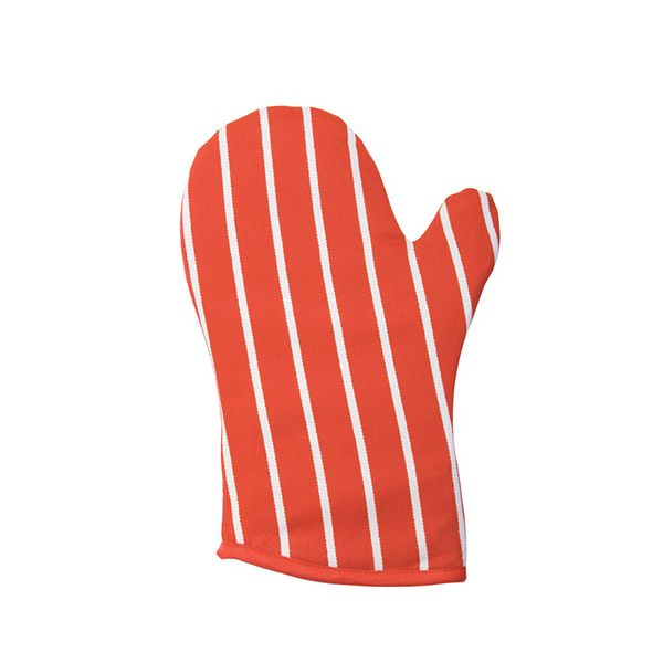 Dexam Rushbrookes Classic Butchers Stripe Gauntlet Red