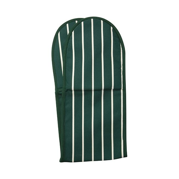 Dexam Rushbrookes Classic Butchers Stripe Double Oven Glove Green