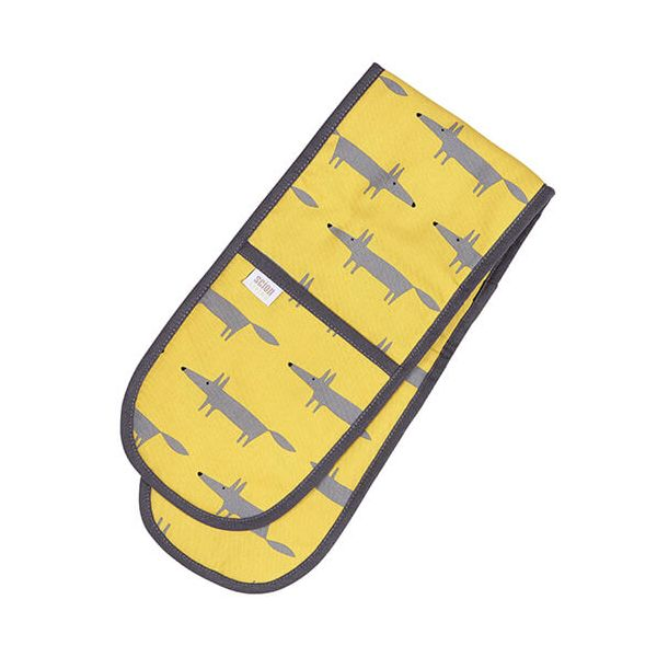 Scion Living Mr Fox Double Oven Glove Yellow