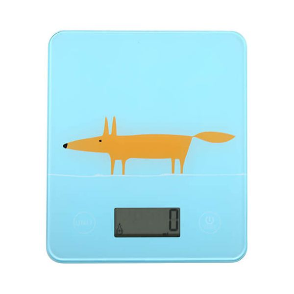 Scion Living Mr Fox Blue Electronic Kitchen Scales