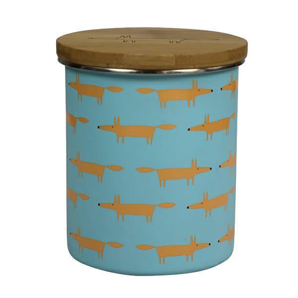 Scion Living Mr Fox Storage Jar Multi Print Blue