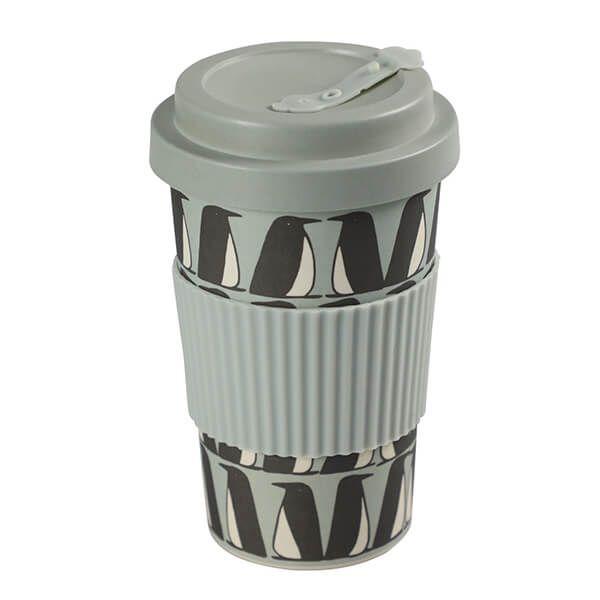 Scion Living Pedro Penguin BamBroo Ice Grey Drinks Mug