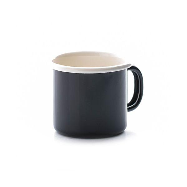 Dexam Black Enamelware Espresso Mug