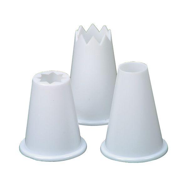 Dexam Rushbrookes Set Of 3 Food Piping Nozzles