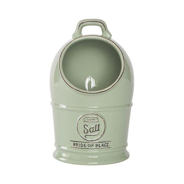 T&G Pride Of Place Salt Jar Old Green