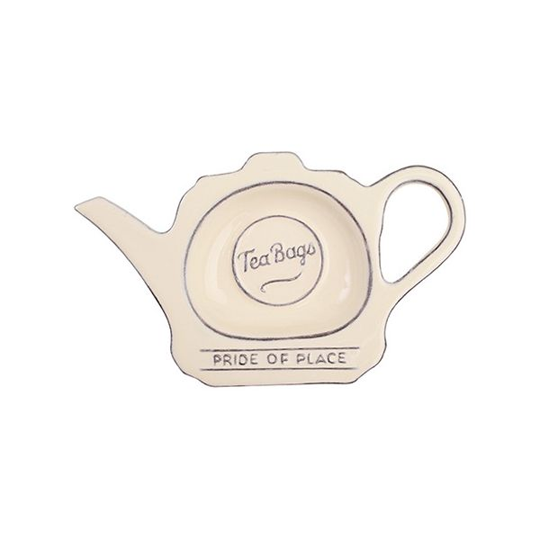 T&G Pride Of Place Tea Bag Tidy Old Cream