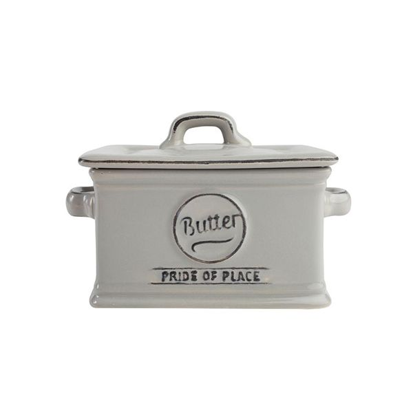 T&G Pride Of Place Butter Dish Cool Grey