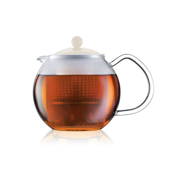 Bodum Assam Tea Press With Glass Handle 0.5 Litre Off White