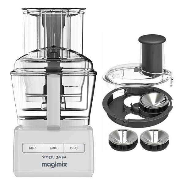 Magimix 3200XL White Food Processor with FREE Gift