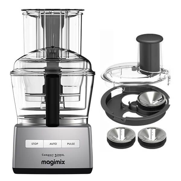 Magimix 3200XL Satin Food Processor with FREE Gift
