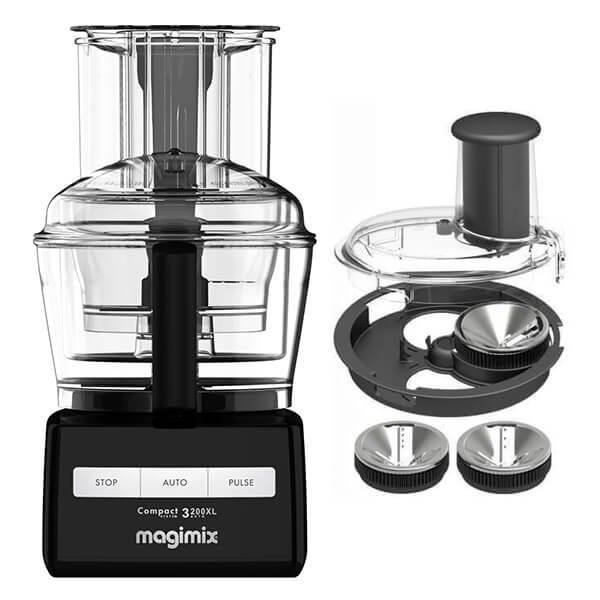 Magimix 3200XL Black Food Processor with FREE Gift
