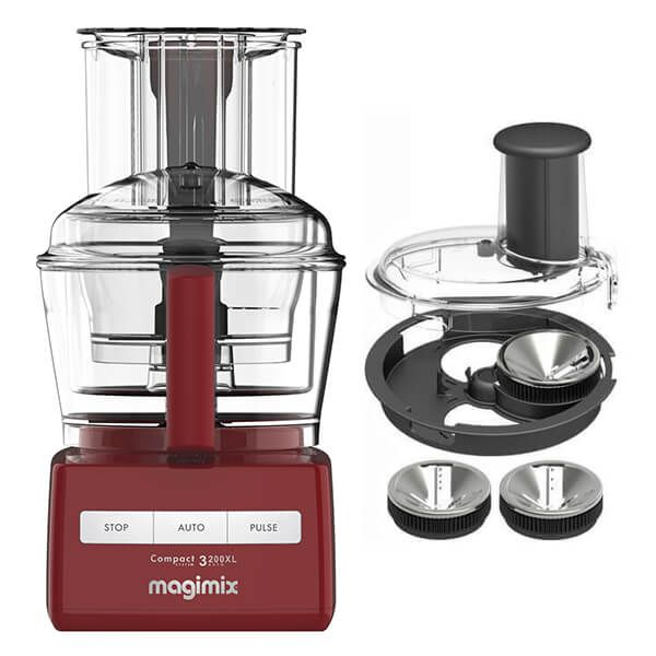 Magimix 3200XL Red Food Processor with FREE Gift