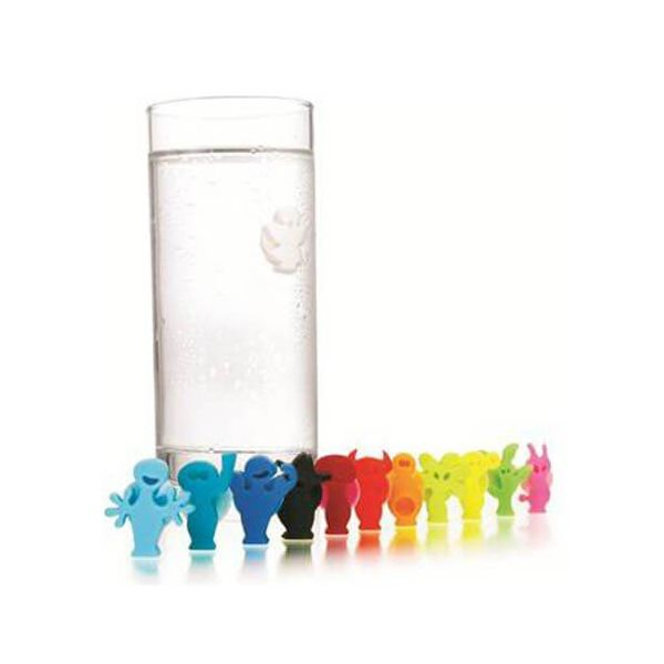 Vacu Vin Glass Markers Party People Set Of 12