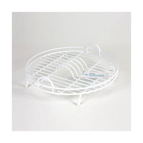 Delfinware Wireware White Circular Drainer