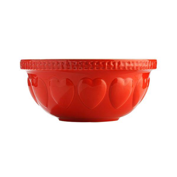 Mason Cash Hearts Red S12 Mixing Bowl 29cm