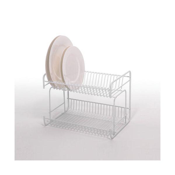 Delfinware Wireware White 2 Tier Small Plate Rack