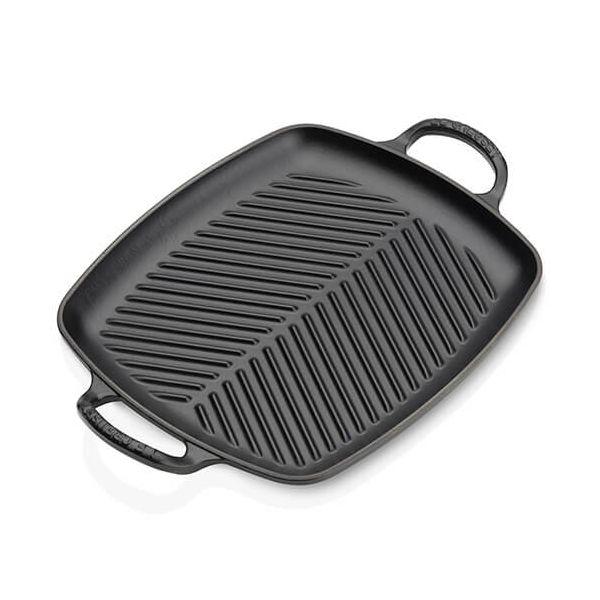 Le Creuset Signature Satin Black Cast Iron 30cm Rectangular Grill