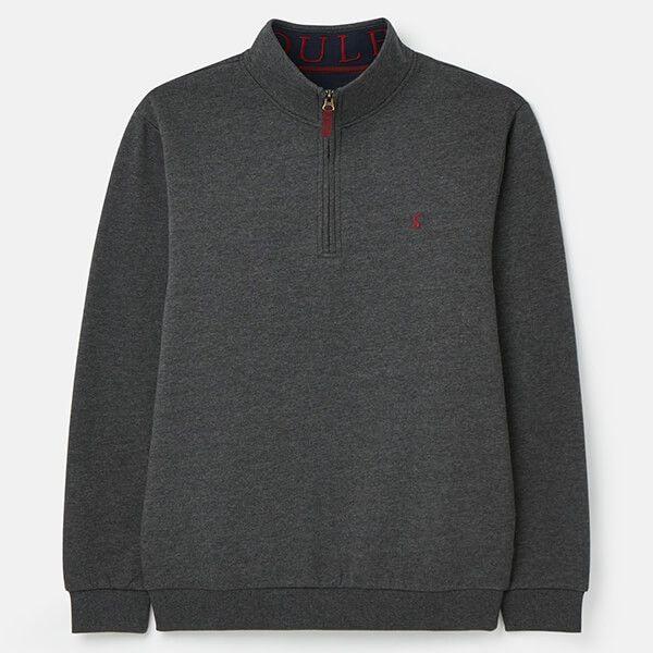Joules Grey Drayton Clean Quarter Zip Sweatshirt