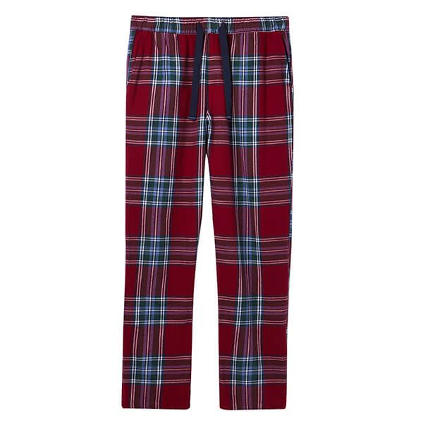 Joules Blue Red Check The Sleeper Lounge Trousers