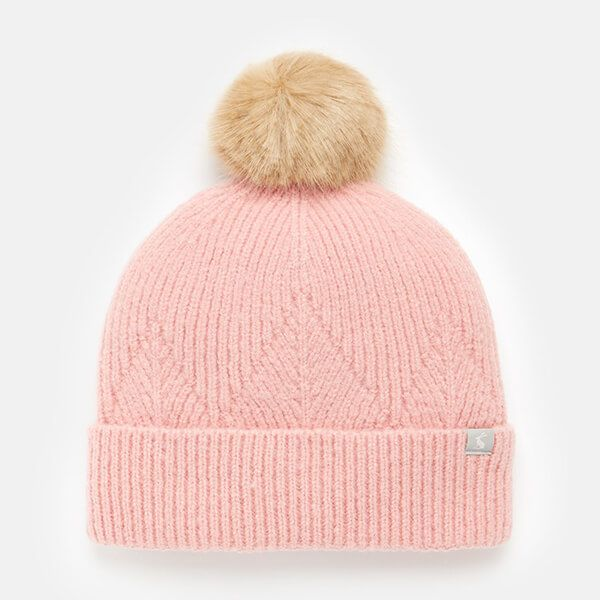Joules Pale Pink Thurley Knitted Hat